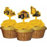 Creative Converting Construction Birthday Zone Cupcake Toppers