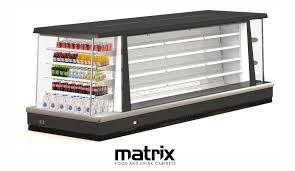 The Matrix Open Front Refrigeration Display Can Be Used For Standalone Or Complete Refrigerated Island Sales Shelving Units Are Adjustable And Have