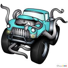 100 How To Draw A Monster Truck Step By Step To S