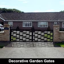 100 Homes Made Of Steel Modern Laser Cut Metal Garden Gates I Custom Designs