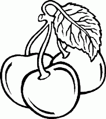 Fruit Coloring Pages Cherry Coloringstar Adult Of Fruits And Vegetables Plants