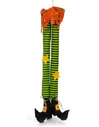 Halloween Witch Yard Stakes by 18 Hanging Witch Hat With Witch Legs Black H3316402 Embroitique