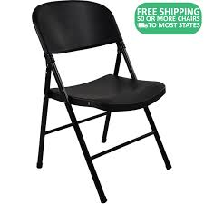 100 Oversized Padded Folding Chairs Black Poly Chair FCIMBB