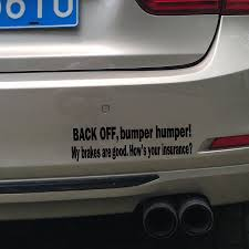 Funny Rear Window Decals Back Off Bumper Humper Tailgate Funny Car ...
