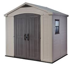 Tractor Supply Wood Storage Sheds by Amazon Com Keter Factor Large 8 X 6 Ft Resin Outdoor Backyard