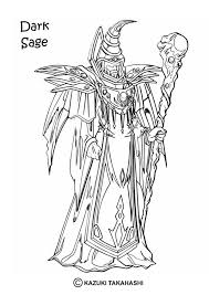 Exodia The Forbidden One Dark Sage Coloring Page