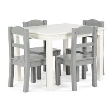 Springfield 5-Piece Wood Kids Table & Chairs Set In White/Grey Kids Study Table Chairs Details About Kids Table Chair Set Multi Color Toddler Activity Plastic Boys Girls Square Play Goplus 5 Piece Pine Wood Children Room Fniture Natural New Hw55008na Schon Childrens And Enchanting The Whisper Nick Jr Dora The Explorer Storage And Advantages Of Purchasing Wooden Tables Chairs For Buy Latest Sets At Best Price Online In Asunflower With Adjustable Legs As Ding Simple Her Tool Belt Solid Study Desk Chalkboard Game