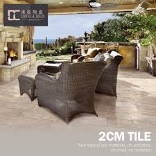 Exterior Sandstone Look Like Courtyard Porcelain Floor Tile Patio Sand Stone 2cm Thick Outdoor Decking