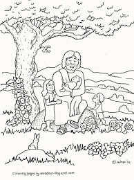 Coloring Page Jesus Loves The Children Az Pages Throughout Little