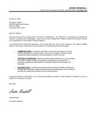 Career Change Cover Letter Samples Jesse Kendall Cover Letter for