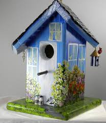 This Twisted Birdhouse Is Soooooo Cooli Love The Painted Details So Much And It Has Its Own Mini As Well
