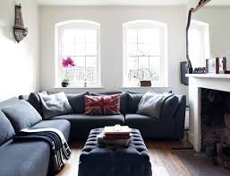 Living Room Decorating Ideas Black Leather Sofa by Good Looking Modular Sectional Sofa In Living Room Eclectic With
