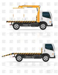 100 Tow Truck Vector Truck Breakdown Van Emergency Car Side View Image Of