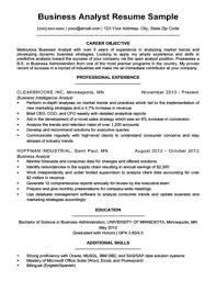 Business Analyst Resume Sample Download