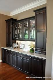 Something Like This Besides The Fridge And Sink Between Kitchen Dining Room Open Cabinets Which Would Be Accessible From Both