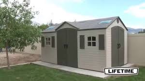 lifetime 15x8 ft storage shed kit dual entry 60079 youtube