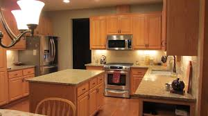 furniture awesome kitchen design with maple cabinet plus santa
