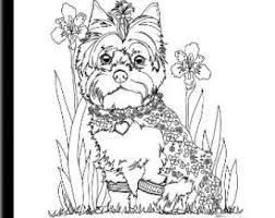 Art Of Yorkie Coloring Book Volume No 1