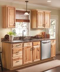 Menards Mosaic Glass Tile by Beautiful Hickory Cabinets For A Natural Looking Kitchen Http