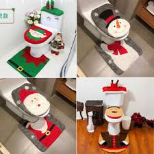 weihnachtsdeko nikolaus santa tank toiletten sitzbezug