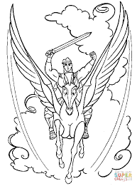 Pegasus Coloring Pages For Adults Barbie