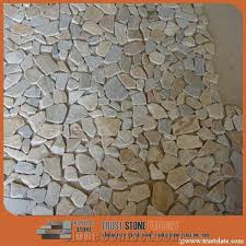 light grey chipped mosaic river rocks pebble mosaic tile beige
