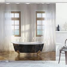duschvorhänge natur duschvorhang marmorhöhlen see gardinen