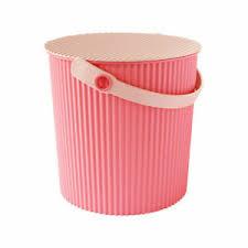 details zu hachiman eimer mit deckel größe klein 8 liter flamingo rosa 23059