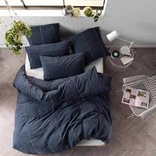 Jeromes Bedroom Sets by King Bed Jerome Navy Quilt Cover U0026 Pillowcase Set By Linen House