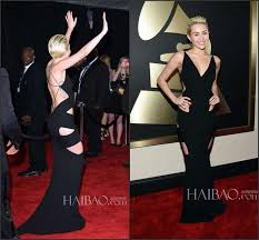 Evening Dresses Red Carpet by Miley Cyrus Newest 2015 57th Grammy Awards Celebrity Evening