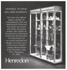 Henredon Walnut China Cabinet by Heritage Henredon Furniture Advertisement Gallery