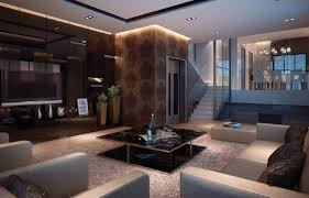 lighting modern luxury interior living room design with warm