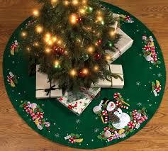 Christmas Tree Skirt Ideas Candy Snowman
