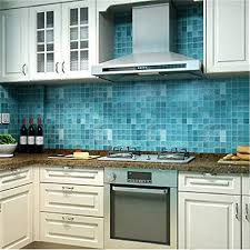 canvivi küche folien fliesen wandaufkleber badezimmer wandtattoo wandsticker wand dekoration blau