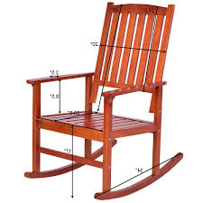 Set Of 2 Wood Rocking Chair Porch Rocker