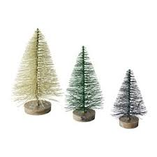 FEJKA Artificial Plant Set Of 3 Christmas Tree
