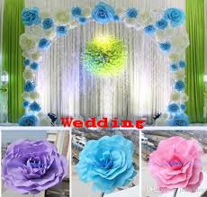 Buy Cheap Decorative Flowers Wreaths For Big Save 30cm 12 Foam Rose Flower Wedding Stage Background Door Party Decoration