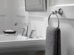 Delta Floor Mount Tub Filler T4797 by Amazon Com Delta 76446 Ashlyn Towel Ring Chrome Home Improvement