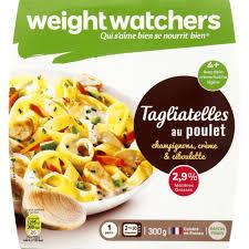 plat cuisiné weight watchers weight watchers tagliatelles au poulet et chignons à la crème