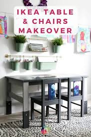 Ikea Kids' Table And Chairs Makeover | Kaleidoscope Living Ikea Mammut Kids Table And Chairs Mammut 2 Sells For 35 Origin Kritter Kids Table Chairs Fniture Tables Two High Quality Childrens Your Pixy Home 18 Diy Latt And Hacks Shelterness Set Of Sticker Designs Ikea Hackery Ikea