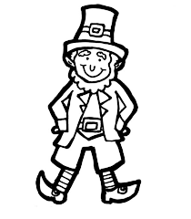Leprechaun Classic Costume For Parade Coloring Page