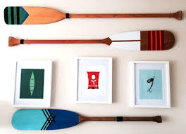decorative oars and paddles diy painted oars wall ideas and projects