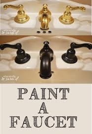 Rubbed Bronze Bathroom Faucet by How To Paint A Faucet Sincerely Sara D