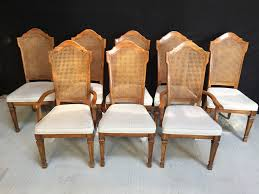 8 French Oak Style Cane Back Dining Chairs, Sold Set Of Four Ethan Allen Cane Back Ding Chairs Ebth Chair Fniture Outlet Atlanta Fair Eastgate Row Spokane Room French Provincial Cane Back Ding Chairs Thomasville Room Ideas Eight Mid Century Modern S8 Milo Baughman New Fabric Chrome Pair Vintage French Country Arm 2 Ideas On For Sale Au Uk Pwick Antiques English And Montgomery Alabama Fishmag