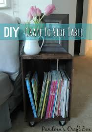 Easy Side Table From Wooden Crate
