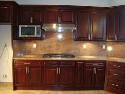 Kitchen Backsplash Ideas With Dark Wood Cabinets by Backsplash Kitchen Cabinets Backsplash Kitchen Cabinets Kitchen