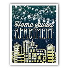 QuotHome Sweet Apartmentquot PAPER PRINT