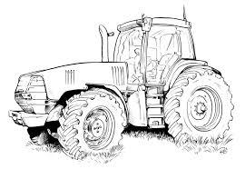 Coloriage Tracteur Remorque ã Imprimer