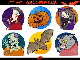 Vampire Pumpkin Designs by Cartoon Illustration Of Halloween Themes Vampire Zombie Witch