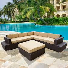 Outdoor Sectional Sofa With Chaise by Patio Furniture Sectional Homes And Garden